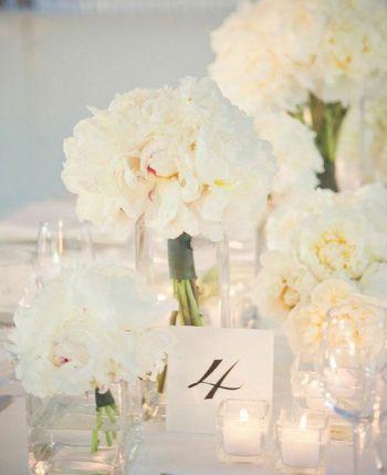 Centre de table blanc: