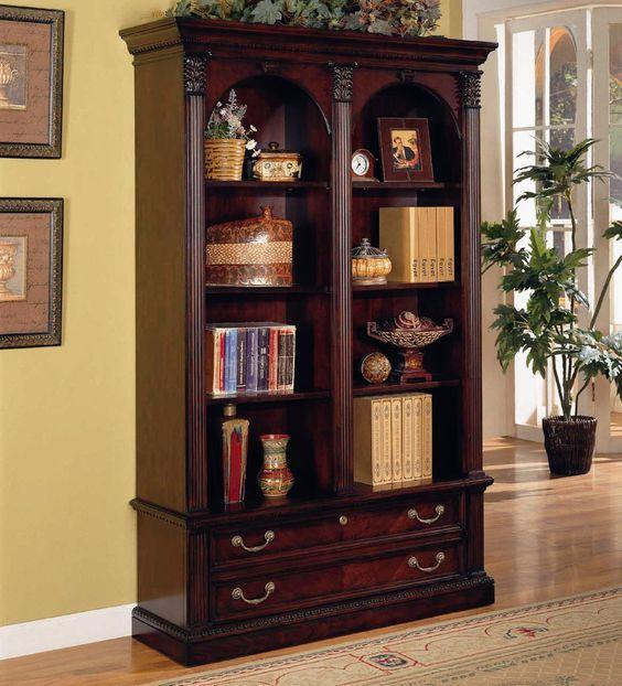 Wellington Double Bookcase By Flexsteel Wynwood Collection
