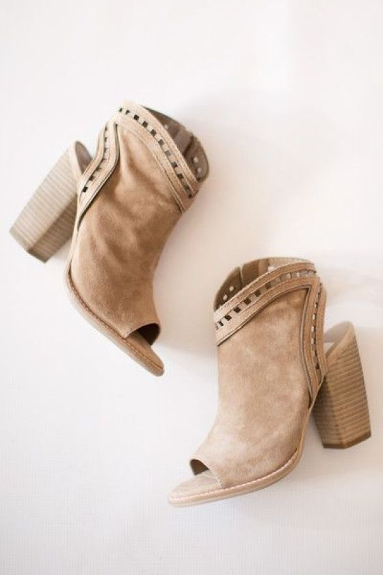 maude, shoes, heels, dolce vita, natasha, lace cut out, suede, nude, almond, natural, tan, fall, winter, open toe, bootie, casual, everyday, dressy, fun, trendy: