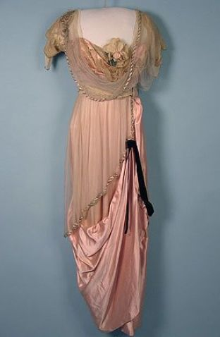 Paquin Couture Evening Gown, c. 1913, Edwardian Dress:
