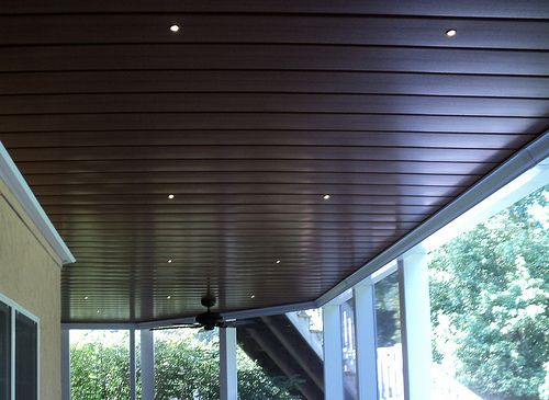under deck aluminum ceiling with led recessed lights on awesome deck patio outdoor lighting ideas that lighten up your space id=71725