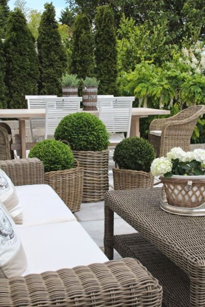 french country outdoor patio furniture Modern Country Style: Using Grey Rattan Kubu Chairs In