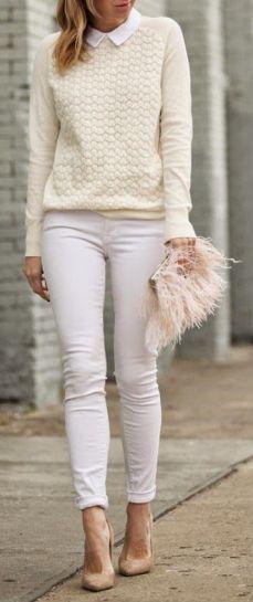 all white in winter