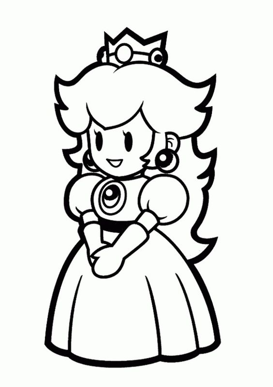 coloring pages to print princess peach and princess