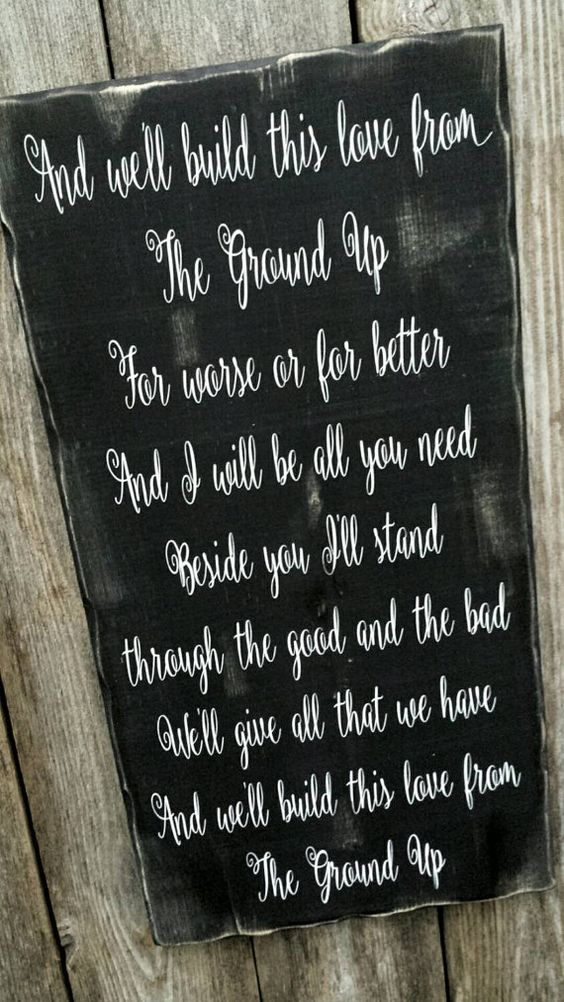 Download From The Ground Up Dan & Shay Song Lyric Sign, We'll Build ...