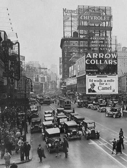 New York City.  - Times Square in the 1920s: