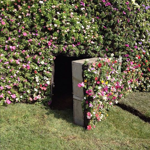 Wow! Could camouflage get any better than this? Garden with secret door. Secret Garden.: