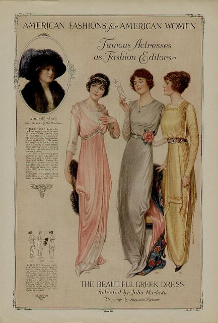 1913, fashion plate:
