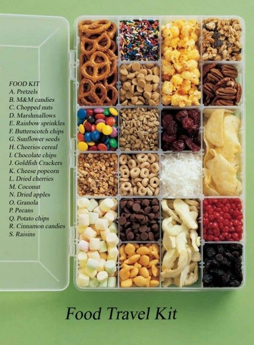 Healthy Snack Box Mix for Travel with Kids