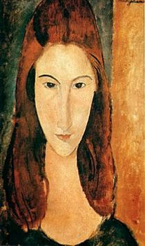Jeanne Hébuterne ,,frequent subject and common-law wife of the artist Amedeo Modigliani: