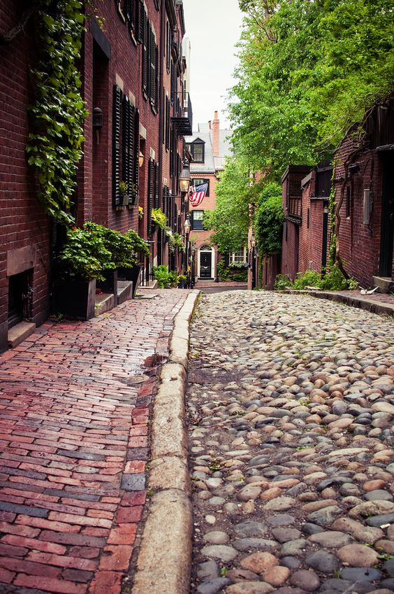 Cobble Stone streets, Boston, Massachusetts: