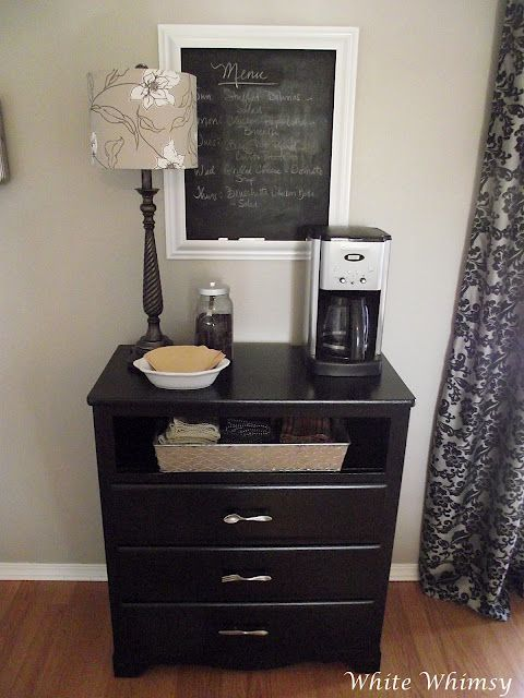 Home Coffee Bar Great Idea In Guest Bedroom