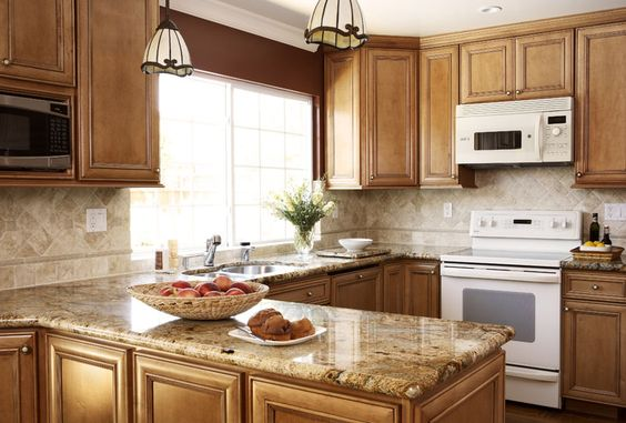 maple cabinets white appliances - Google Search | Remodel ... on Maple Cabinets With White Countertops  id=26008