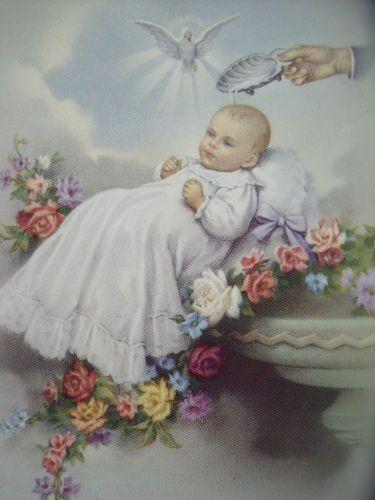 Vintage New Baby Religious Christening Baptism Fratelli