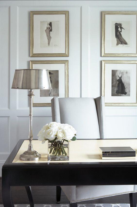 { elegant home office }: