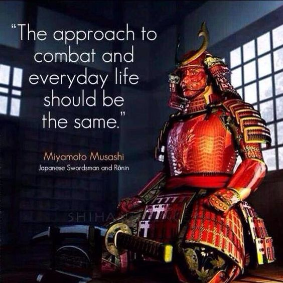 """When it comes to being prepared - """"The approach to combat and everyday life should be the same."""":"""