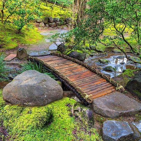 bamboo garden bridge Bamboo footbridge at Portland Japanese Garden … | Pinterest