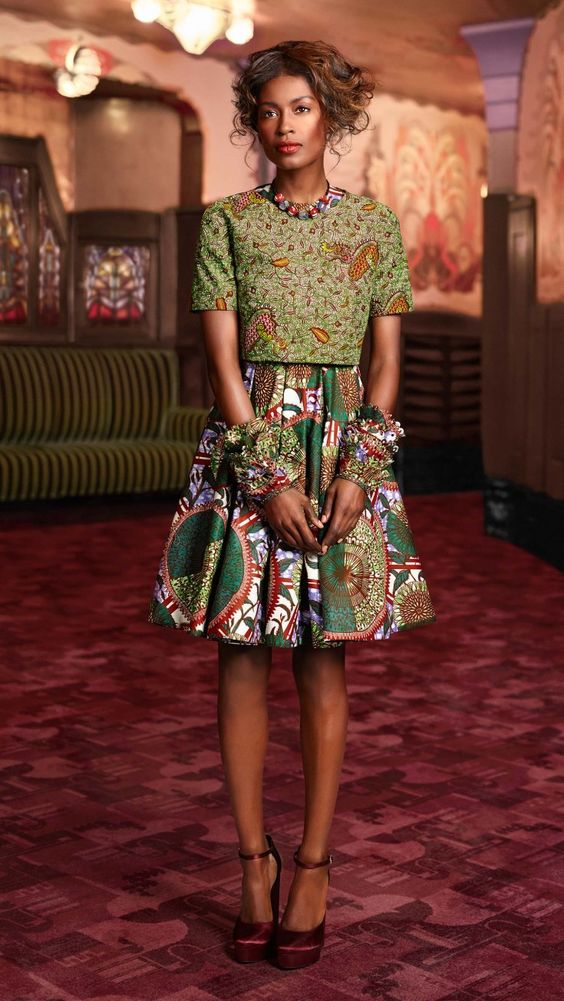 15 Latest Ankara Skirt And Blouse Styles 2017 Fashion
