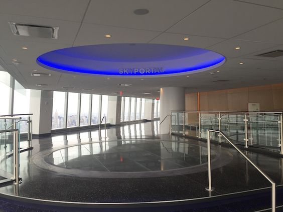 Inside the observatory of One World Trade Center