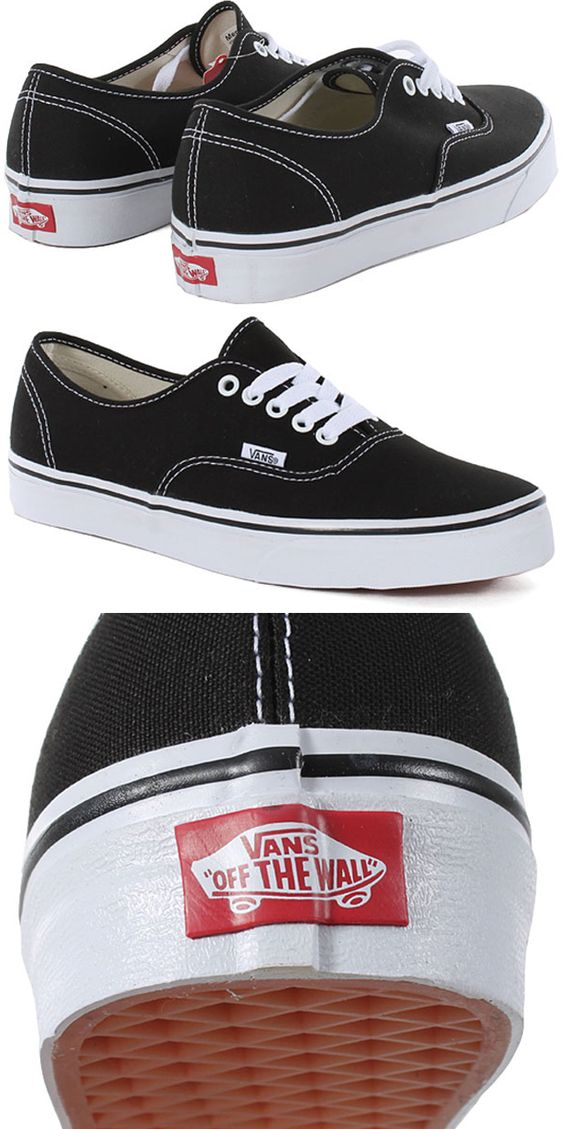 classic black authentics vans off the wall vans on off the wall id=83467