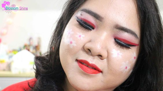 Look Make Up 17 Agustus dengan elemen bunga , just for fun