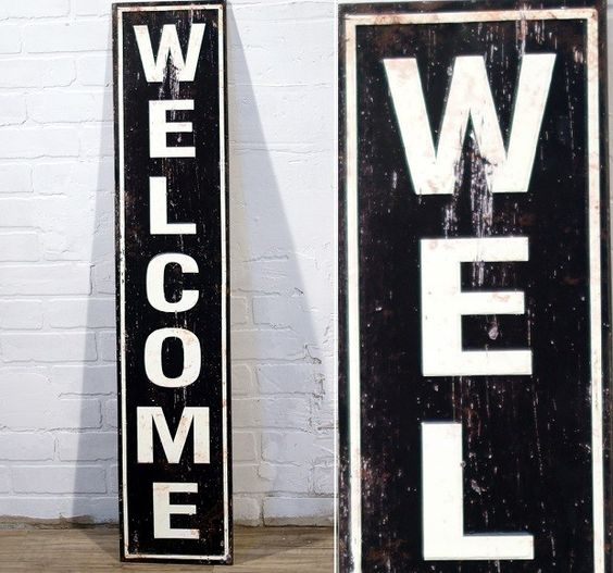 Image result for wood welcome sign antique farmhouse