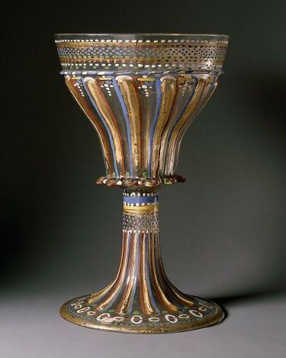 Standing cup  Date: ca. 1530 Culture: Italian, Venice (Murano) Medium: Glass, enameled and gilt: