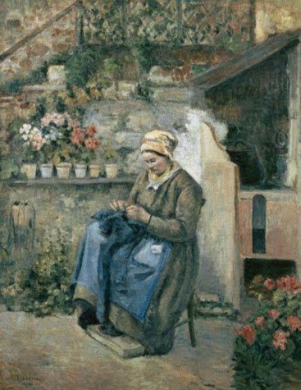 Camille Pissarro (Danish-born French artist, 1830-1903) The Pretty Mother: