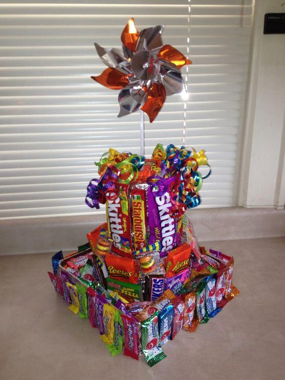 Candy Birthday Cake Tower Pinwheel Made An Amazing