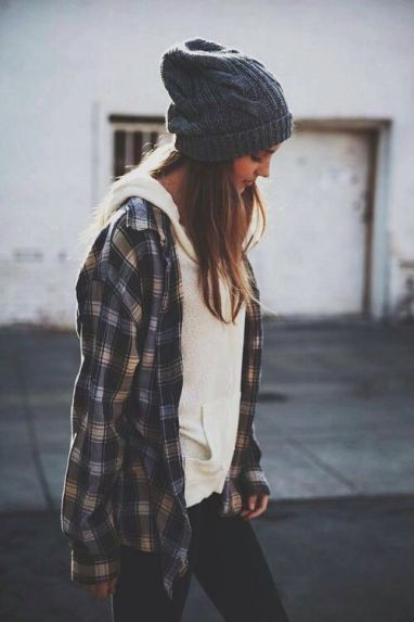 this flannel outfit is so cute for fall!