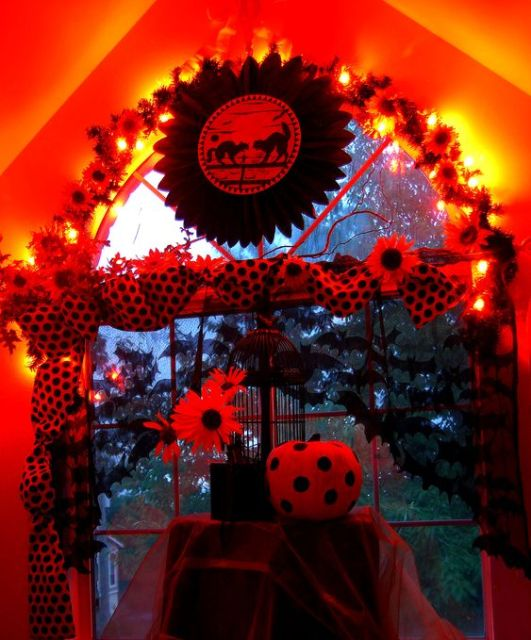 Here's a spot for a Halloween party.: