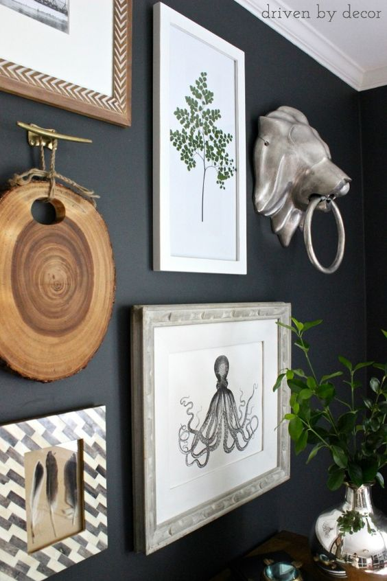 Tips for creating a gallery wall (includes great ideas for inexpensive art):