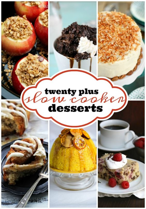 Easy #SlowCooker Dessert Recipes | Your #crockpot makes it super easy to mix up scrumptious dessert recipes including cake, cobbler, fondue, and more. This delicious collection of dessert recipes will get you well on your way to a slow cooker dessert master!: