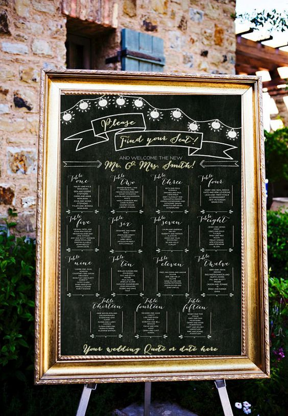 Give your guests a taste of your boho, rustic and/or outdoor inspired sophistication with our Printable Chalkboard Table Assignments! This digital file: