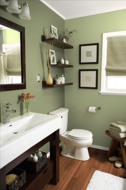 green bathroom design idea