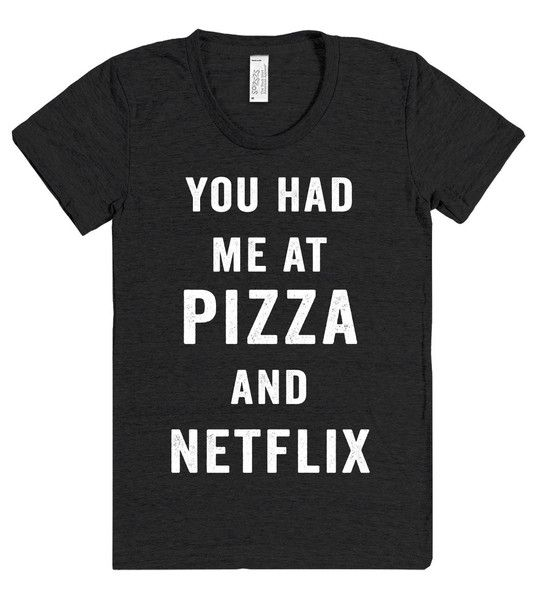 Image result for netflix pizza shirt