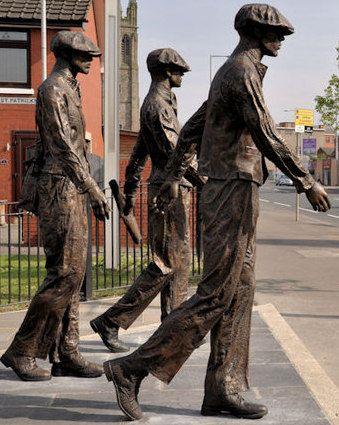 ~Titanic Yardmen 401 Statues, Newtownard Road, Belfast ~: