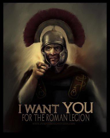 Roman legion recruitment poster: