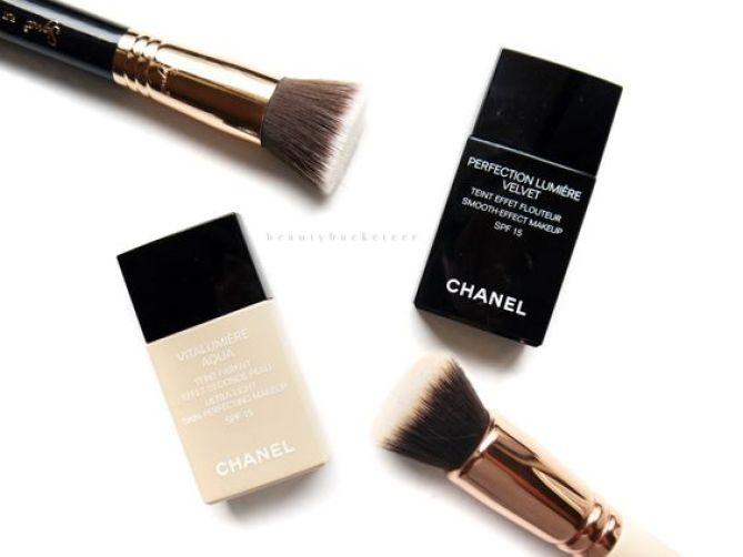 Chanel Vitalumiere Aqua vs Perfection Lumiere Velvet:
