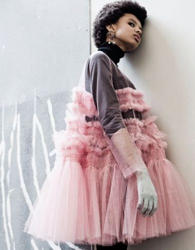 Poppy Okotcha for Molly Goddard x Dazed | Photographed by Amy Gwatkin: