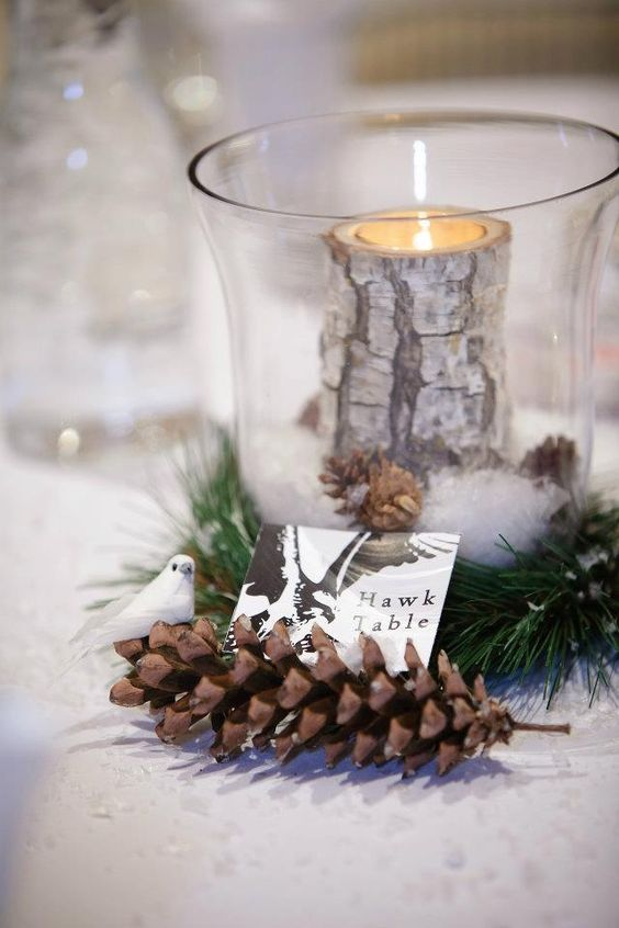 Hurricane Vase Table Names And Diy Centerpieces On Pinterest