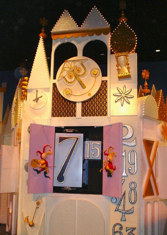 Its A Small World Clock Tower Magic Kingdoms New