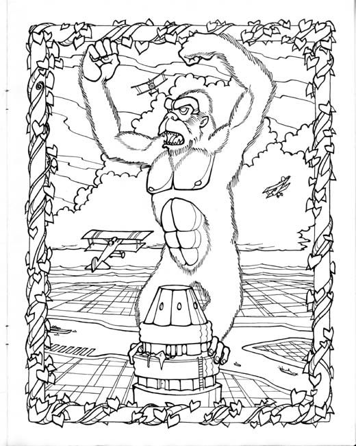 king kong coloring pagemark savee  king kong