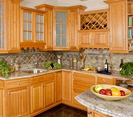 natural maple cabinets with granite - Google Search ... on Granite With Maple Cabinets  id=12586