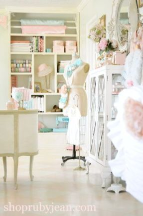 sewing room: