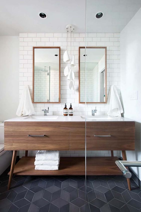 37 Amazing mid-century modern bathrooms to soak your senses:
