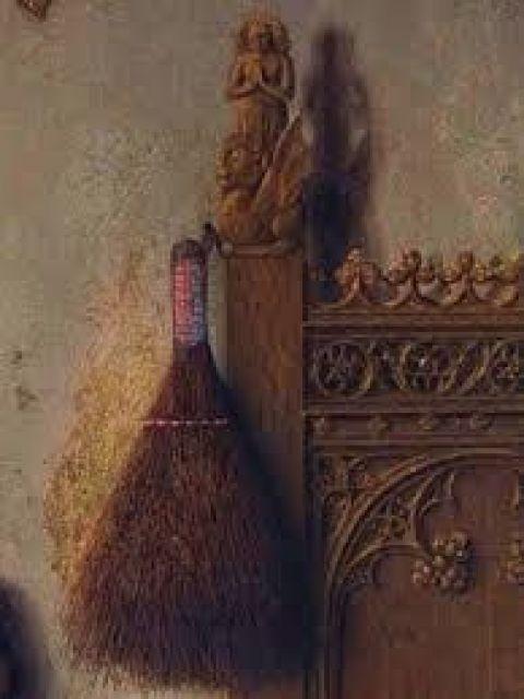 Arnolfini marriage - detail: