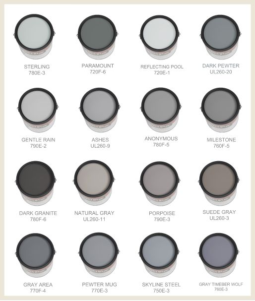 some of the best grays and blues are made by behr this on behr paint chart id=90880
