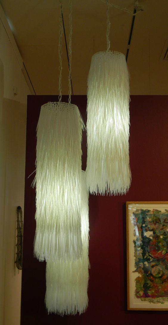 Create Your Own Eye Catching Zip Tie Lamp The Latest Trends In Lighting Fixtures Pinterest