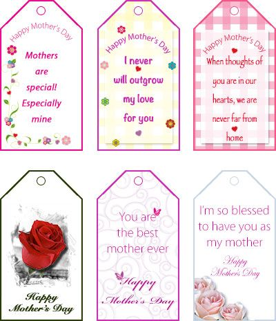 Free printable gift tags for Mother's Day - my-free ...